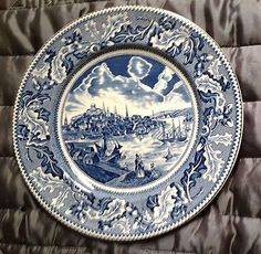 #Johnson brothers #historic america plate with the view of boston #massachusetts.,  View more on the LINK: http://www.zeppy.io/product/gb/2/321862772540/
