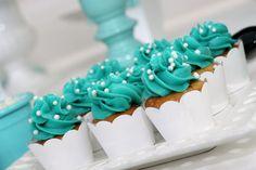 Cupcakes at a Tiffany Party #tiffany #partycupcakes