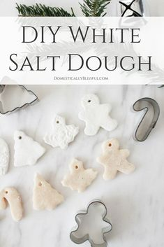If you want to create white salt dough ornaments this Christmas you will love this DIY recipe for how to whiten salt dough! If you want to create white salt dough ornaments this Christmas you will love this DIY recipe for how to whiten salt dough! Salt Dough Christmas Ornaments, Clay Christmas Decorations, Homemade Ornaments, Christmas Gift Tags, Christmas Crafts For Kids, Xmas Crafts, Homemade Christmas, Christmas Diy, Diy Ornaments