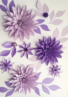 Black Friday PinWire: SALE – Wedding table decorations – Paper Flower Table Decor # 51 … 14 mins ago – Set of 10 paper flowers in aqua plum … - New Deko Sites Paper Flowers Craft, Large Paper Flowers, Paper Flowers Wedding, Paper Flower Backdrop, Flower Crafts, Diy Flowers, Paper Flower Centerpieces, Potted Flowers, Flower Diy