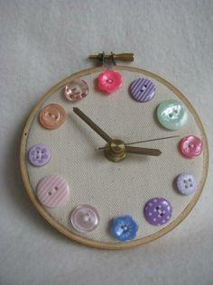 Hoop art. Clock