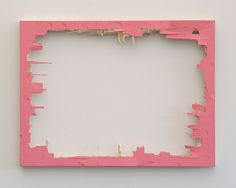 julianminima:  Matthew Deleget Pink Nightmare, 2007 Pink monochrome painting (acrylic on panel), hit with a hammer  18 x 24 inches