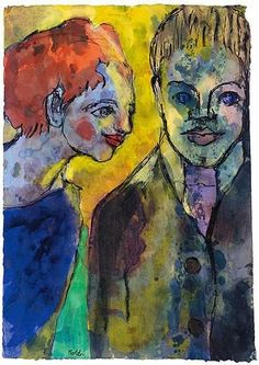 Emil Nolde, Young couple