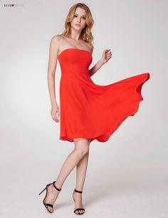 a4f541bdf0 Długości sukienki balowej 2018 Bez ramiączek Prosta kolor Candy Ever Pretty  EP05979 Asymetryczna sukienka pomarańczowa Gala