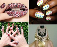 10 three.D nail designs - super cute and the Mr. T one cracks me the hell up
