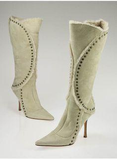 Jimmy Choo Studded Shearling Boots