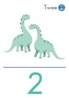 Cijferkaart 2 - Met deze cijferkaart leer je het cijfer 2. De afbeelding op de kaart ondersteunt het getalbeeld wat bij het cijfer 2 hoort. Hierdoor ontwikkel je jouw getalbegrip. Door de heldere opmaak en kleurrijke illustratie, leer je gemakkelijk wat het cijfer 2 betekent. English Activities, Math Activities, Little King, Einstein, Dinosaur Stuffed Animal, Logo Design, History, Illustration, Cards