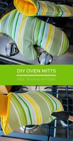 Oven mitt free sewing pattern | pot holders | hot pads | #freesewingpattern #sewingpatterns #sewing #giftideas #diygifts