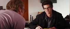 andrew garfield. amazing spiderman. (gif) Awwww he's so adorable :)