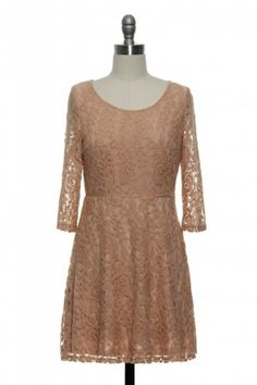In Love With Lace Dress in Peach http://www.laceaffair.com/in-love-with-lace-dress-in-peach/