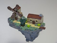 Floating Mill - I adore tiny lego models as they are much more difficult to do well!