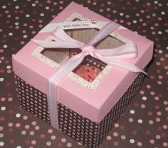 Decorative Cupcake Boxes Easy Way To Decorate Cupcake Boxes  Food  Pinterest  Decorated