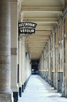 wandering the beautiful palais royal in paris. (february 2014)