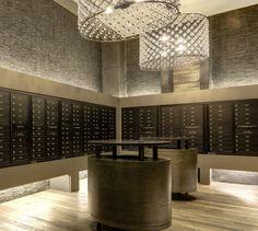 Resident Mailroom at The Frasier luxury apartment community in Alexandria, VA
