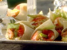 Lobster Wrap by Sandra Lee from FoodNetwork.com i will add celery, peppers & onions of course THANKS SANDRA