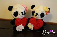osos panda amigurumi apgina japonesa