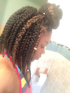 Jumbo bob box braids
