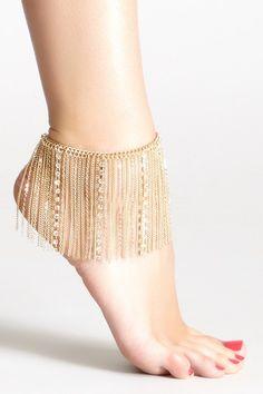 Butterflies Leg Chain by So Anyway on @HauteLook