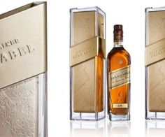 Designed by french design agency QSLD Paris - new Gold Label for Johnnie Walker: Serve Chilled.