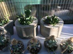 Hand madr concrete succulent planters