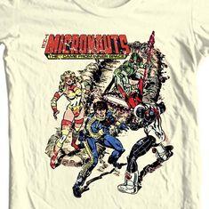 Micronauts graphic tee shirt retro comics toys distressed t-shirt cotton - T-Shirts, Tank Tops Mens Tee Shirts, Graphic Tee Shirts, Cool T Shirts, War Comics, Marvel Comics, Retro Toys, Vintage Comics, The Ordinary, Shirt Designs