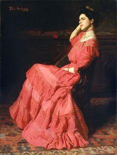Anshutz, Thomas, (1851-1912), A Rose, 1907, Oil