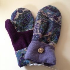 Cashmere Purple Mittens Made out of recycled wool sweaters. Contains cashmere. New with tags. Great for the season. Any questions, just ask! No trades. Accessories Gloves & Mittens