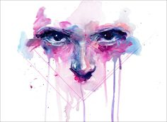My Right My Faith by Agnes Cecile - Prints available at EyesOnWalls.com http://www.eyesonwalls.com/products/my-right-my-faith-fine-art-print #art #painting #agnescecile