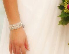 Crystal Bridal Bracelet  Silver bracelet by GlamHouse on Etsy, $25.00