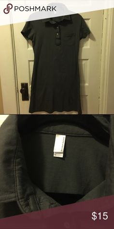 """🌟Price Drop🌟 American Apparel shirt dress Dark gray cotton American Apparel shirt dress. Super comfy and perfect for everything from a bathing suit coverup to casual dinner out.  No fading.  36.5"""" from shoulder to hem. American Apparel Dresses Mini"""