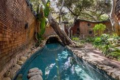 Poolside, whimisical Thatched House in Santa Barbara. Santa Barbara Real Estate, Storybook Homes, Thatched House, Fairytale Cottage, House Built, Home Deco, Outdoor Gardens, Beautiful Homes, Beautiful Places
