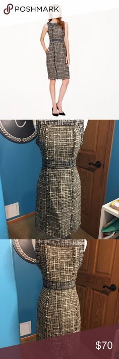J. Crew Pepper Tweed Dress Item has been previously worn, but it is still in excellent condition!  This item is perfect to pair with tights and some cute heels for the upcoming fall! J. Crew Dresses
