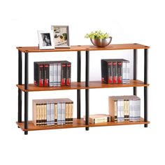 Add stylish storage to your contemporary home with the Furinno Turn-N-Tube 3 Tier Open Back Standard Bookcase . A trio of sturdy shelves and an open-back. Rack Shelf, Storage Rack, Storage Shelves, Shelving, 3 Shelf Bookcase, Etagere Bookcase, Bookshelves, Office Storage Furniture