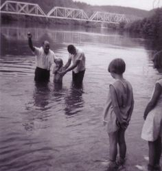 I remember being baptized In the river, we had to wear white.