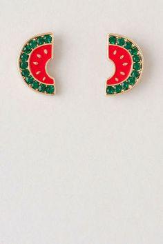 Luling Watermelon Stud Earrings