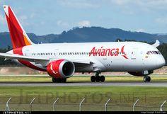 Avianca Colombia Boeing 787-8 Dreamliner (registered N780AV; photo by Jhon Lopez)
