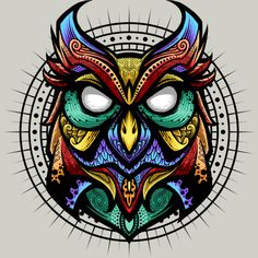 Owl Ornate 2 is a T Shirt designed by angoes to illustrate your life and is available at Design By Humans Disney Character Sketches, Viking Tattoo Symbol, Vape Art, Owl Artwork, Mask Drawing, Owl Logo, Owl Illustration, Cute Emoji Wallpaper, Graffiti Wall Art