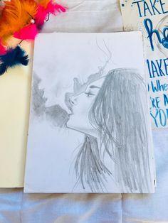 Cigarette Smoke, Sketches, Drawings, Doodles, Sketch, Tekenen, Sketching