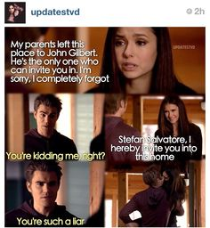 "Elena (Nina Dobrev) and Stefan (Paul Wesley) - ""The Vampire Diaries"""