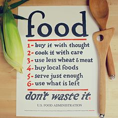 For the kitchen: Food Rules Print by Holstee based on WW1 design.