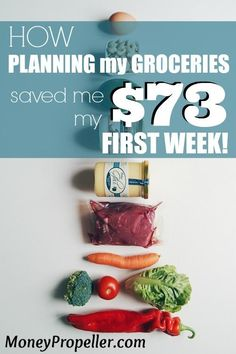 I'm jumping in with two feet for a grocery budget makeover.  Planning my groceries saved me $73 my first week.  Can you reach that? I bet you can! Click for ideas on how to do it too! http://moneypropeller.com/how-planning-my-groceries-saved-me-73-my-first-week/ #Summer, Summer Fun, Summer Ideas