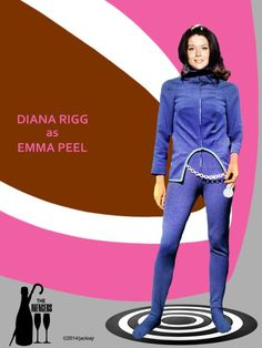 The Avengers, Avengers Poster, Spy Shows, Uk Tv Shows, Emma Peel, Diana Riggs, Ali Mcgraw, Dame Diana Rigg, Joanna Lumley