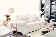Around The House: Spring Decor Updates - The Pink Dream Living Room On A Budget, Living Room Remodel, Cozy Living Rooms, Formal Living Rooms, Living Room Decor, Room Ideas Bedroom, Living Room With Fireplace, Dream Decor, New Room