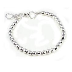 HandPicked: 6-mm Beaded Bracelet: Sterling Silver: Bracelets