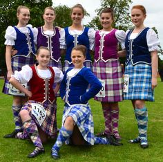 Tour Scotland photograph of beautiful Scottish Highland Dancers on visit to the Kilt Run in Perth, Perthshire