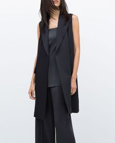 STUDIO WAISTCOAT WITH BACK OPENING-Outerwear-Woman-COLLECTION AW15 | ZARA United Kingdom