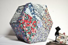 Hexagonal Sewing Box  Liberty Patchwork  Hand Made by tialys