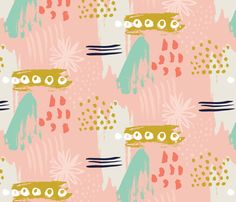 spring expression blush pink fabric by verysarie on Spoonflower - custom fabric