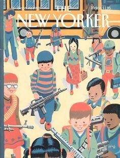The New Yorker: la couverture d'Art Spiegelman sur les armes et l'école