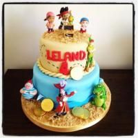 Jake and the Neverland Pirate kids birthday cake.
